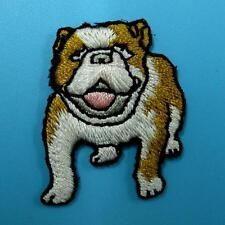 Dog Poppy Animal Iron on Patch Embroidered Applique Biker Rock Badge Wild Family