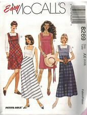 8269 UNCUT Vintage McCalls Pattern Misses Semi Fitted Jumper Sundress 2 Lengths