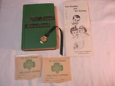 Girl Scout Vtg. Handbook w/ Book Marker Pamphlet receipts lot  T*