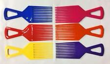Afro Comb Detangler Detangling Hair Brush Pink Yellow Blue Orange Purple Red
