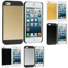 For Apple iPhone 5S 5 Hybrid Brushed Aluminum Sleek Hard Case Cover Accessory