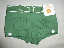 Gymboree DAISY DELIGHTFUL Green White Piped Shorts NWT 3-6 Spring Summer Baby