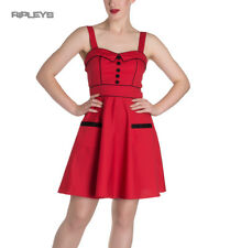 HELL BUNNY Mini Dress Pin Up VANITY Polka Dot   Red All Sizes