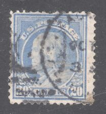 US STAMP #419 --- 20c WASH-FRANK -- FLAT,p.12,190w -- 1912 - USED