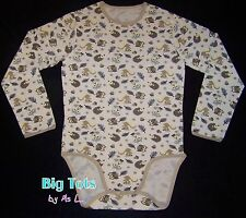 Adult Baby FOREST ANIMALS long sleeve Bodysuit  *Big Tots by MsL*