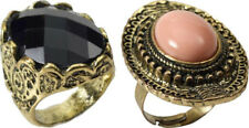 Adult Fancy Party Costume Accessory Jewellery Medieval Finger Stone Ring UK