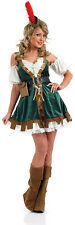 Ladies Sexy Robin Hood Marion Cute Fancy Dress Costume Medieval Outfit 12-14 NEW