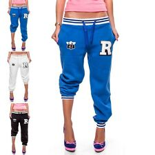 Ladies R Sports trousers Fitnesshosen Jogging Sweat pants Collage Baseball NEW