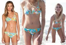 $144 Trina Turk Cosmos OTS Bra Top & Buckle Side Hipster Bottom Bikini Set