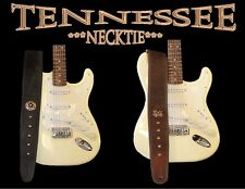 CUSTOM MADE-HANDMADE GUITAR STRAP LEATHER  (TENNESSEE NECKTIE)