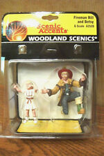 WOODLAND SCENICS FIREMAN BILL and BETSY G SCALE FIGURES