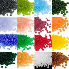 340 Matsuno Dyna-Mites 6/0 #6 Glass Spacer Seed Beads Transparent Matte Colors