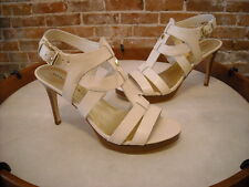 Marc Fisher Vachella Ivory Leather Strappy Sandals NEW