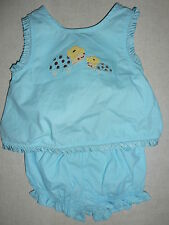 Gymboree ISLAND BEAUTY Blue Turtle Tank Top & Short Bloomer 2 piece outfit NWT