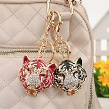 Crystal Rhinestone Tiger Keyring Charm Pendant Key Chain Bag Purse Car Gift K9S9