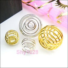 Lantern Spring Bead Cages 9mm,15mm Silver Plated,Gold Plated R5095