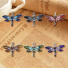 Women Fashion Vintage Fashion Dragonfly Long Chain Sweater Necklace Pendant O0G8