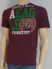 American Eagle Outfitters AEO Varsity Department Mens Burgundy T-Shirt NWT