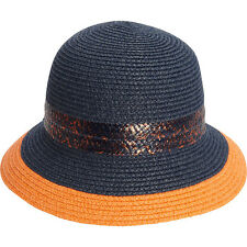 Magid Paper Straw Mix Band Bucket 4 Colors Hat NEW