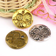 3Pcs Tibetan Silver,Gold,Bronze Watch Movement Charm Pendants DIY M1241