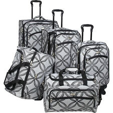 American Flyer Clover Metallic 5 Piece Spinner Set Luggage Set NEW