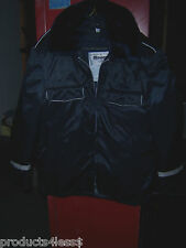 Vintage Blauer Fire Police EMT Nylon Jacket With Removable Liner & Collar