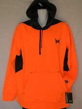 Tapout Neon Orange Hoodie Mens Sizes Gym Workout Boxing Fitness Sweatshirt MMA