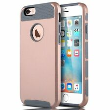 Shockproof Hybrid Rubber Back Cover Case Skin for Apple iPhone5s 6s 4.7'&6 Plus