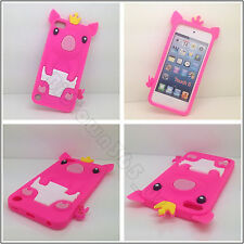 Hot Pink Soft 3D Cute Crown Pig Gel Silicone Case Cover For Ipod Touch 5 5G 6 6G