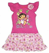 Dora The Explorer Short Sleeve Tunic Shirt Dress Toddler Girl Size 4T