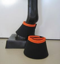 Horse Bell or Overreach Boots Black & Orange AUSTRALIAN MADE Protection