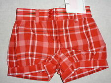 Janie and Jack CAMELLIA SUMMER Red Plaid Bubble Shorts NWT 6-12 6 9 12