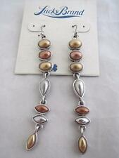 Lucky Brand gold/silver/copper tone dangle earrings, NWT