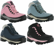 Womens Steel Toe Cap Groundwork Ladies Safety Work Hiking Leather Boots 3-8
