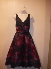 Neiman Marcus ForTarget Lela Rose Purple Floral Watercolor Silk/Cotton Dress NWT