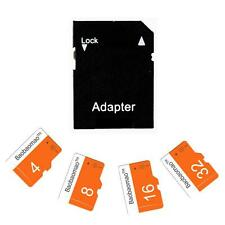 New 4/8/16/32GB Micro SD Card TF Flash Memory Class 10 Free Adapter Orange&White