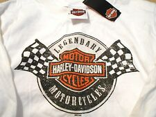 """2 NWT Harley Davidson Youth Motorcycle T Shirt """"Winners Checkered Flag"""" XS"""