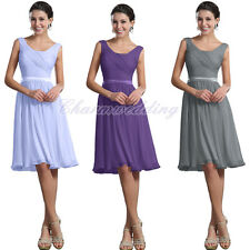 New Short Chiffon Bridesmaid Dress Evening Formal Party Ball Prom Stock Sizes