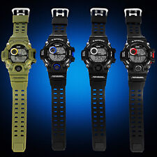 Mens Military Date multi-function Digital Sports Army Anti SHOCK Rubber Watch