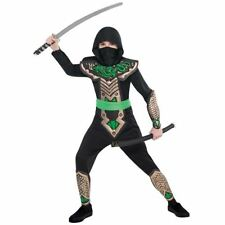 Japanese Dragon Ninja Warrior Childrens Boys Fancy Dress Costume Book Week