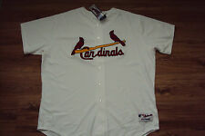 ST. LOUIS CARDINALS NEW MLB MAJESTIC AUTHENTIC GAME JERSEY SIZE 60