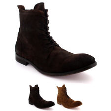 Mens H By Hudson Swathmore Lace Up Biker Leather Smart Ankle Boots Shoes UK 6-12