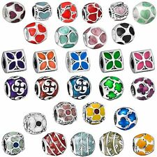 European Fashion Colorful Bead 925 Silver Sterling Charms For New Brand Bracelet