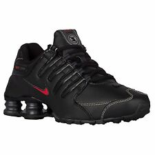NIKE SHOX NZ BLACK VARSITY RED MENS RUNNING ATHLETIC SHOES **FREE POST AUSTRALIA