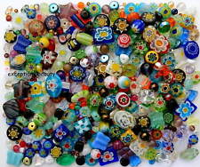 1/4 - 1 LB Pound Assorted Mix Czech Glass Millefiori 1000 Flowers Bulk Lot Beads