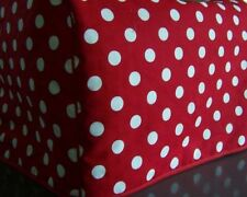 Red Polda Dots Quilted Fabric 2-Slice or 4-Slice Toaster Cover NEW