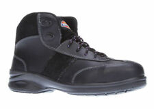 New Womens Dickies Velma Black Leather Steel Toe Cap Safety Work Ankle Boots