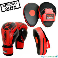 Curved Boxing Focus Pads Hook and Jab Punch Fight Training Gloves Pro Set MMA