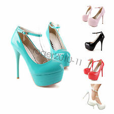 New Sexy Womens Lady High Stiletto Heels Party Platform Pumps Shoes UK Size I001