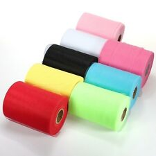 "Sales 6""x 25yd Tulle Roll Spool Tutu Wedding Party Gift Fabric Craft Decorations"